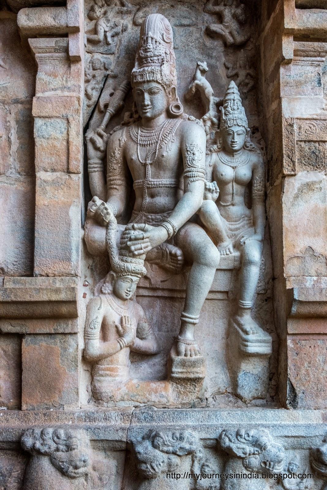 Gangaikondacholapuram Shiva Parvathi