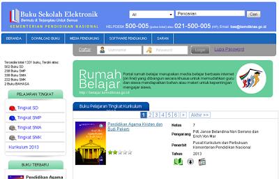 situs resmi kemdikbud untuk download buku Kurikulum 2013