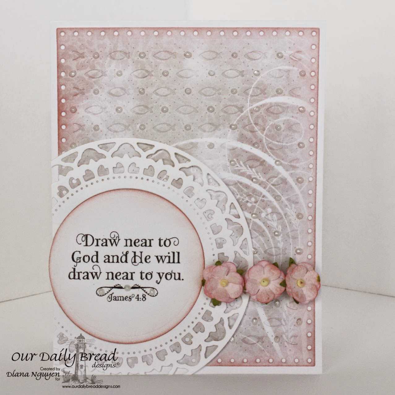 Diana Nguyen, Shabby Rose, Our Daily Bread Designs, God Verses, Faithful Fish Pattern Die, Spellbinders Splendid Circles