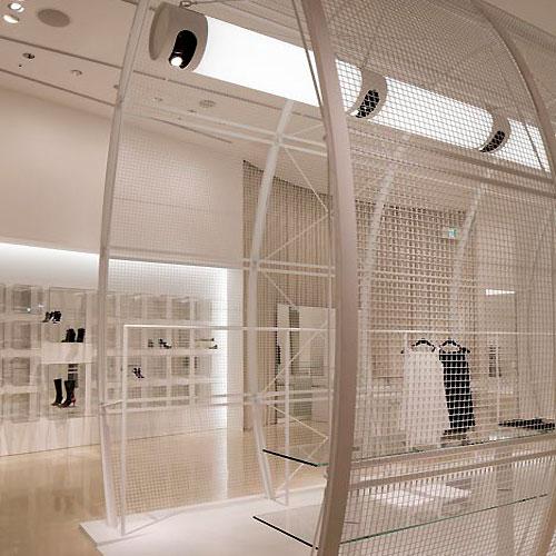 Classy White Interior for Modern Store Design Ideas