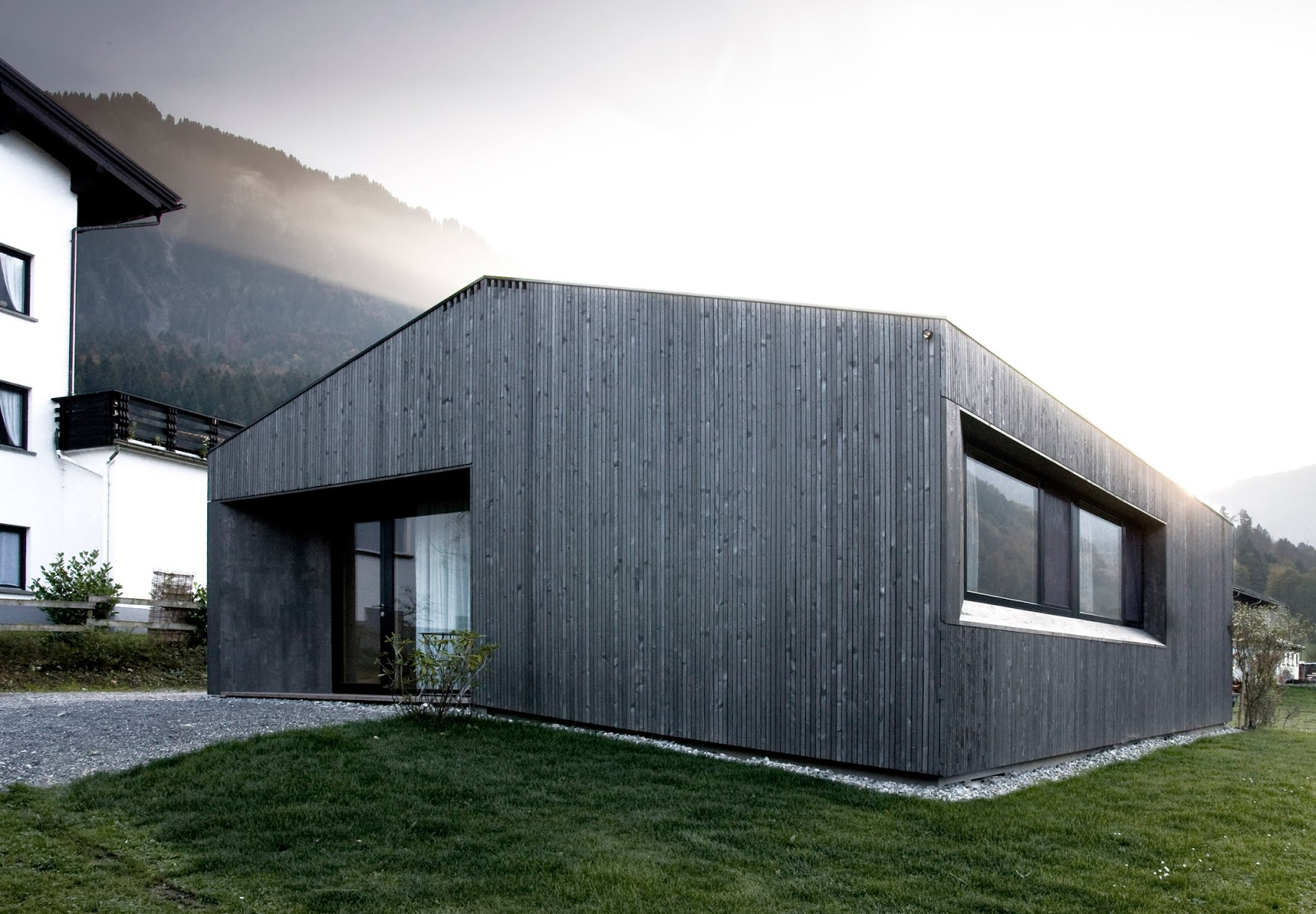 House Made From Prefabricated Timber Elements Austria Modern - Modular-houses-made-of-prefabs