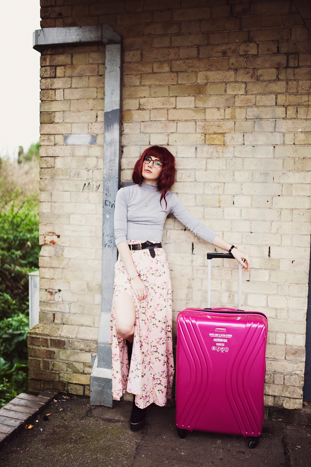 A personal style travel post featuring the American Tourister VIVOTEC Hot Pink Case in association with ASOS