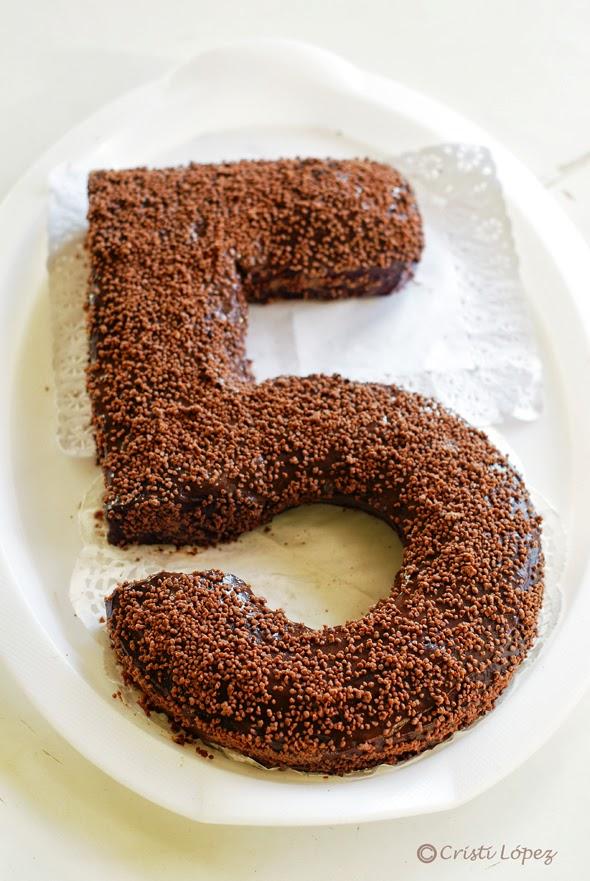tarta de número 5
