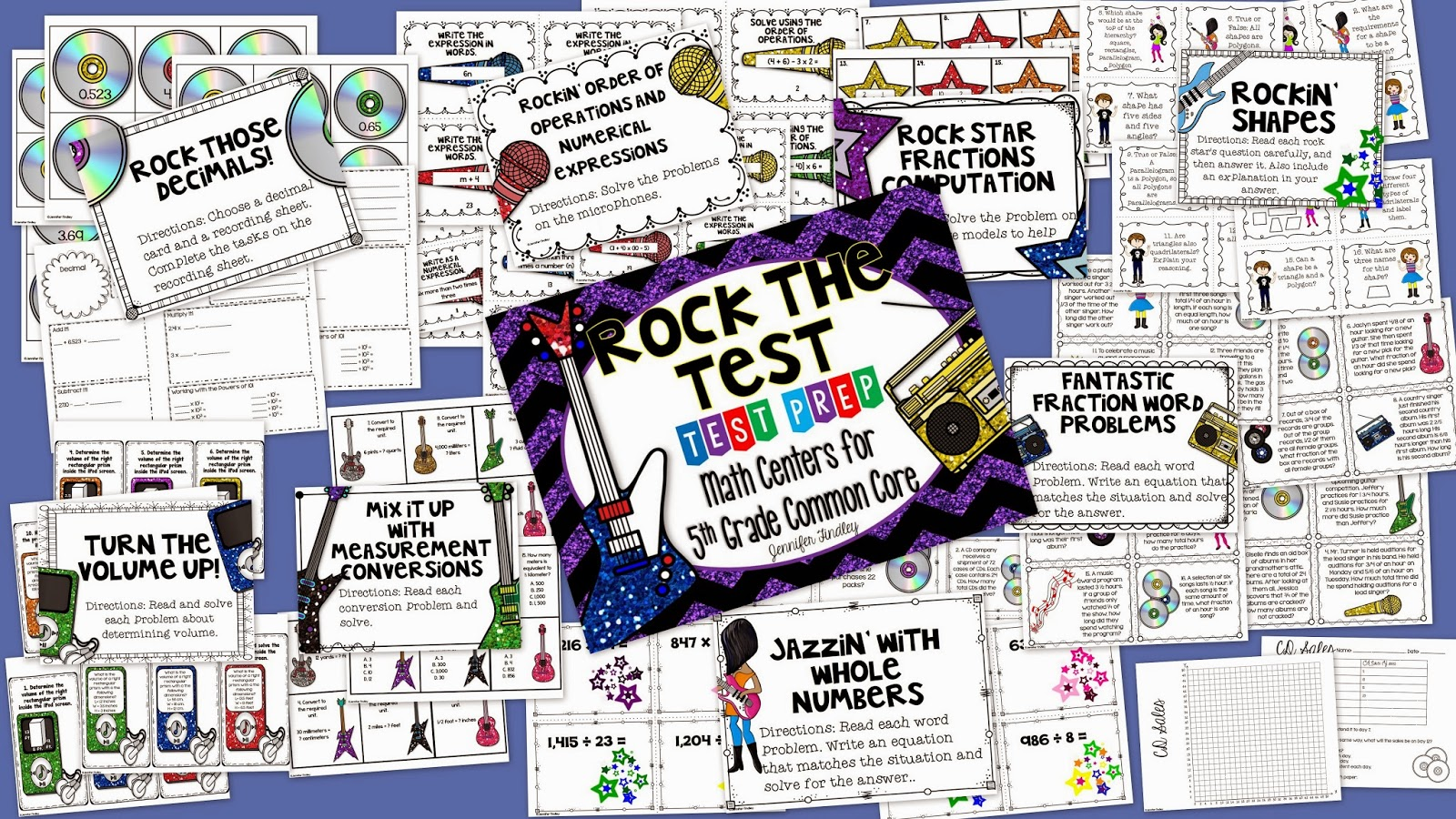 http://www.teacherspayteachers.com/Product/Rock-the-Test-Common-Core-Test-Prep-Math-Centers-for-5th-Grade-1090252