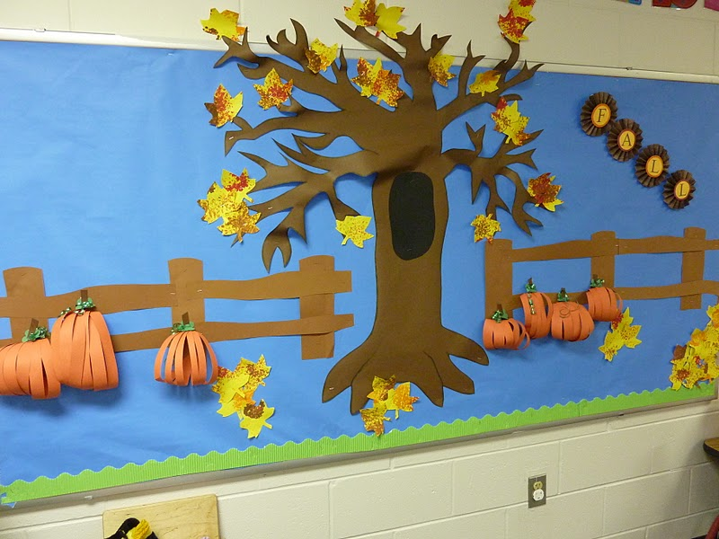 I blame my mother yoyo painting and fall bulletin board for Autumn classroom decoration