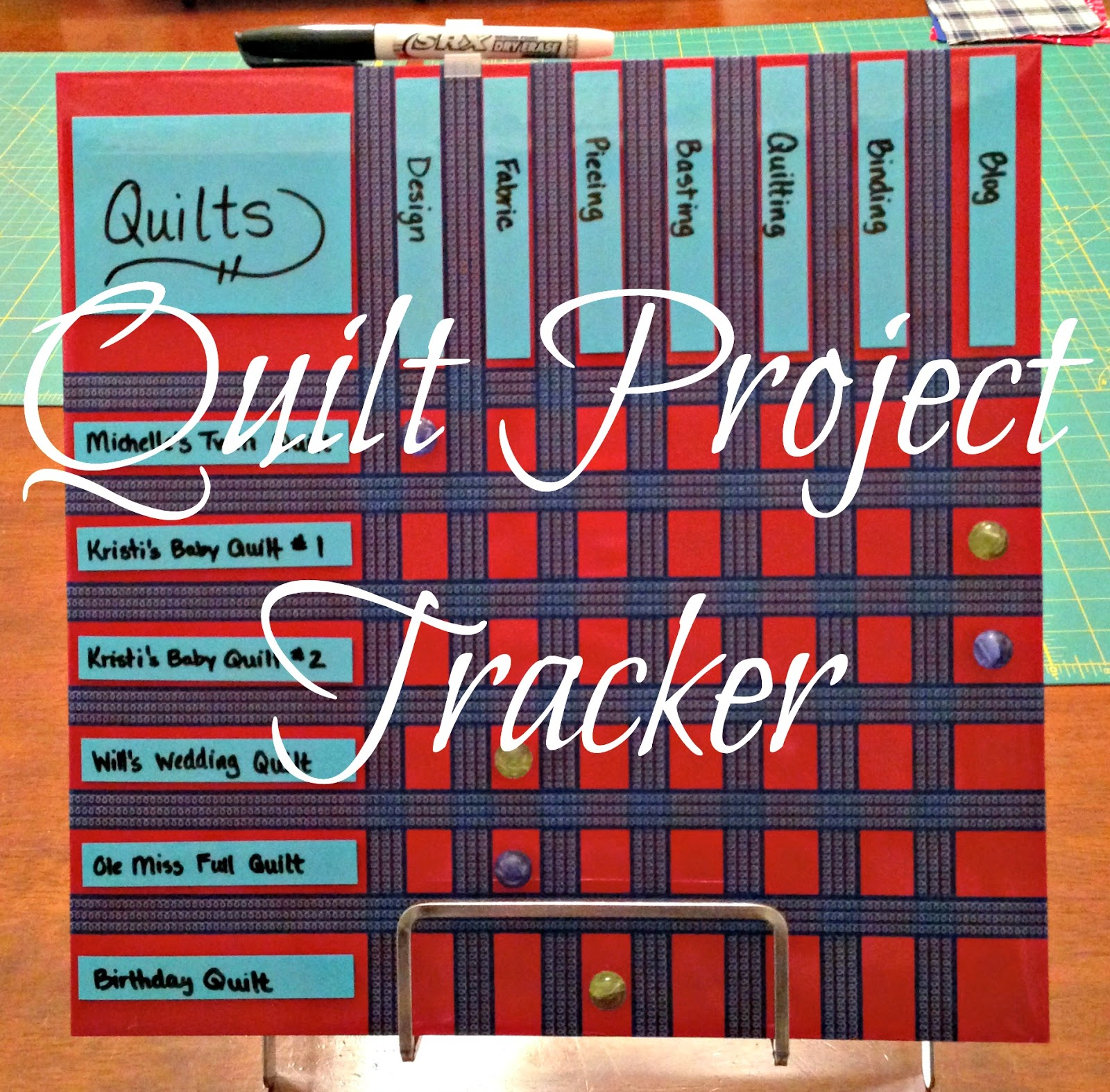 http://simplypieced.blogspot.com/2014/03/quilt-project-tracker-tutorial.html