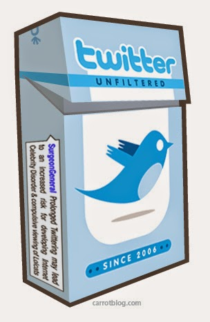 Twitter addiction: Illustration by Carrot Creative.