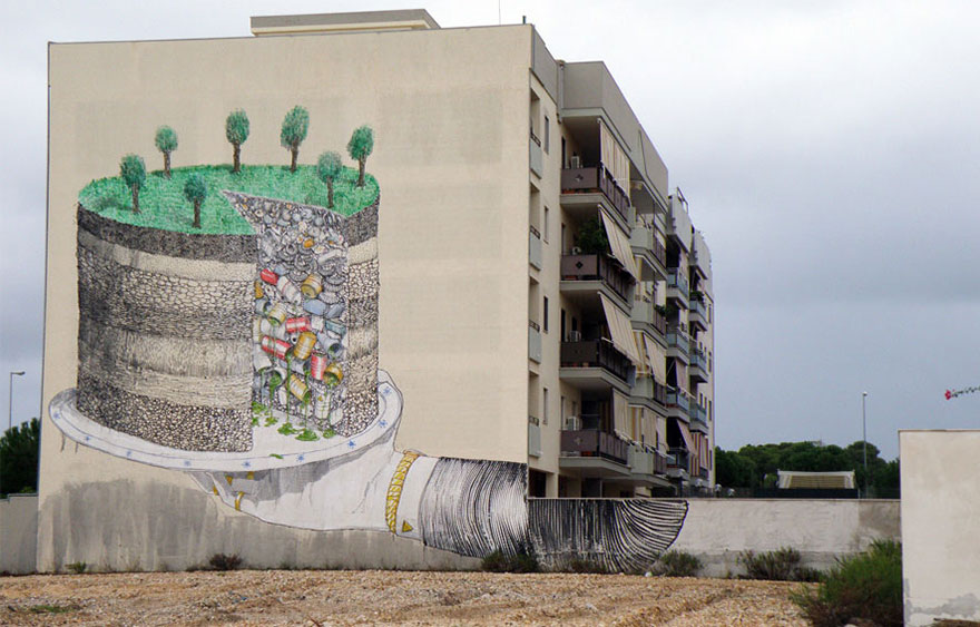 These 30+ Street Art Images Testify Uncomfortable Truths - The Earth Pie Of Trash