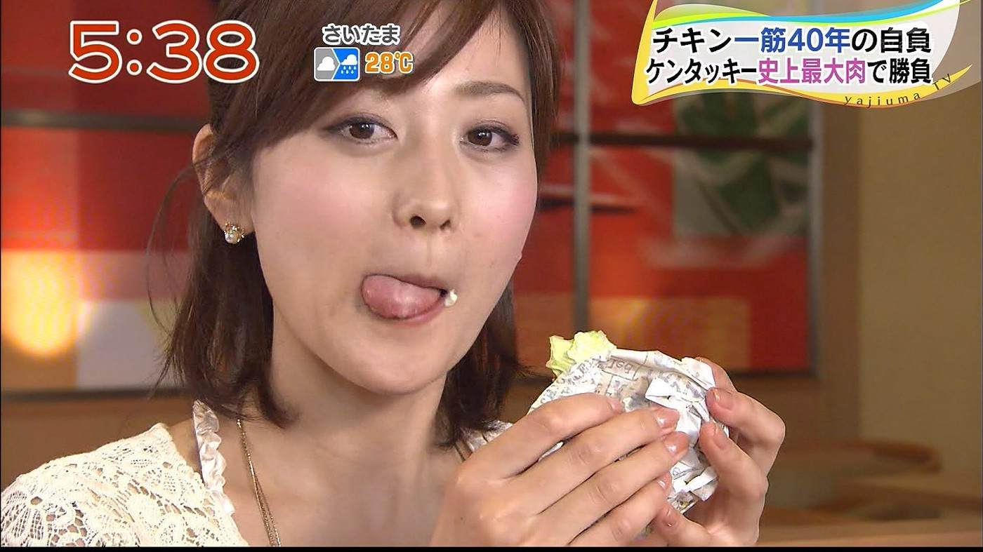 美味しそうに食べる森葉子