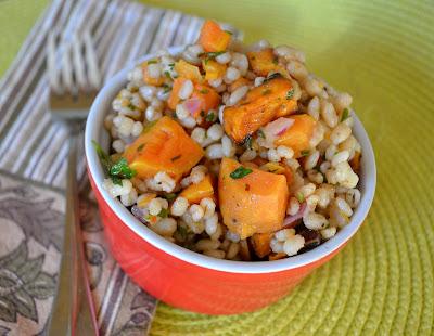 ... creations: Barley salad with roasted sweet potato & maple vinaigrette