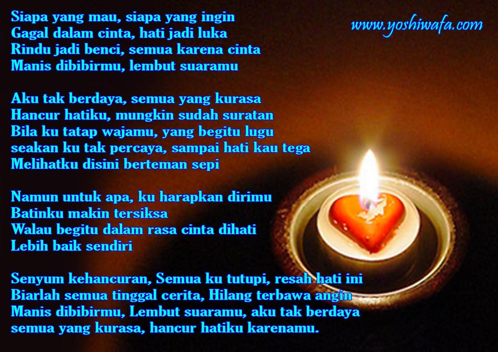 Lilin Cinta Berisikan Puisi Bernada Syahdu