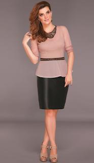 Saia lapis moda trabalho couro tafetá preto cinto fino corte costura
