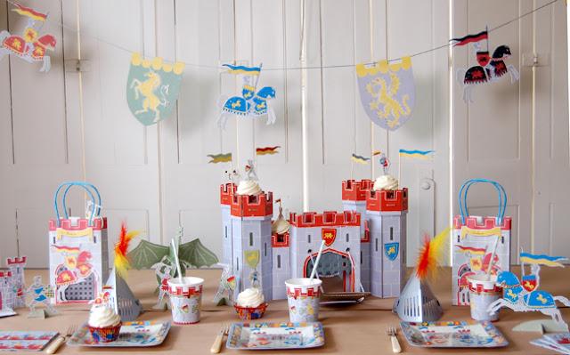 Temaserie fra Meri Meri med Modige Riddere - En sej drengefødselsdag