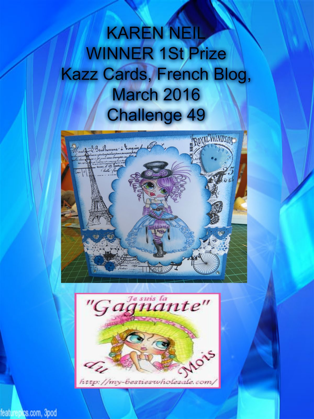 1st Prize Winner, Kazz Cards