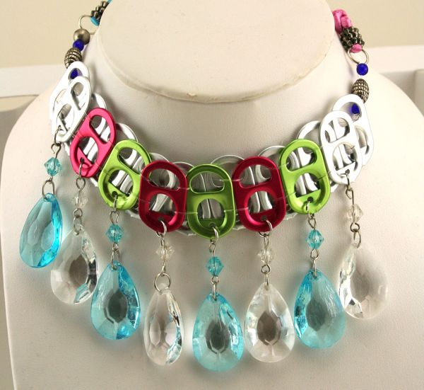 Keep calm and craft on soda tab choker necklace and for Recycle project ideas