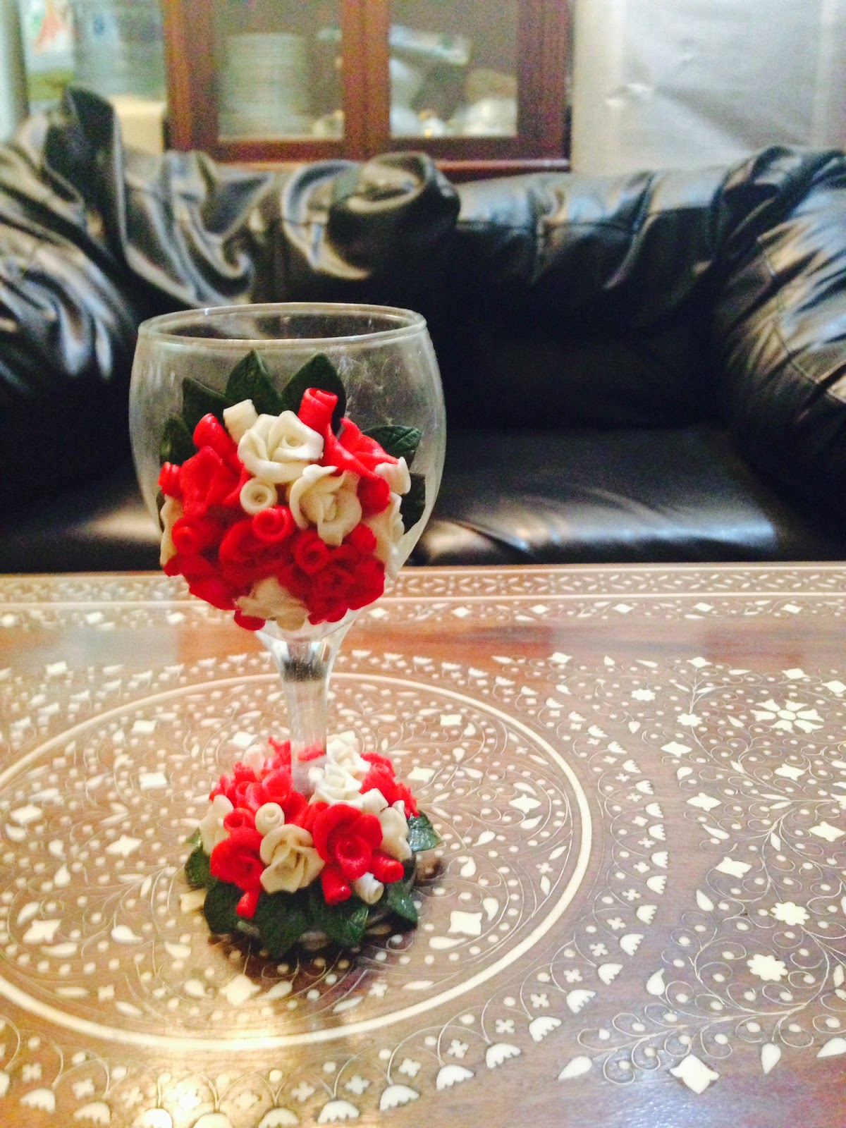 Shaheen art craft wedding glass doodh plai only