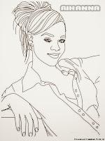 Gambar Mewarnai Rihanna