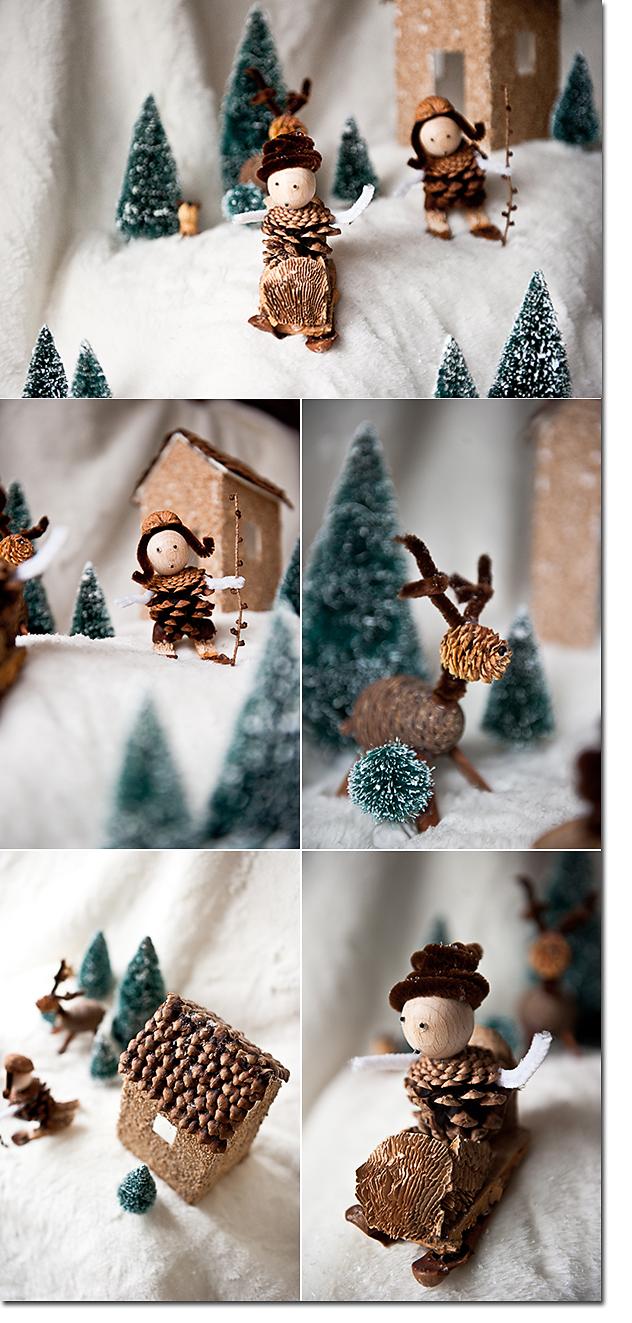 Let it snow im t rchen n 18 ein diy von karin les tissus colbert - Basteln mit kindern weihnachten naturmaterialien ...