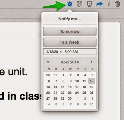 Reminders with @Evernote #EdChat
