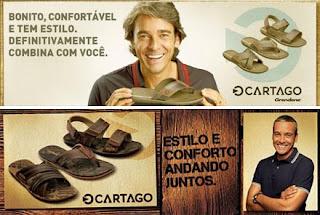 Propaganda de Chinelos Cartago com o ator Alexandre Borges