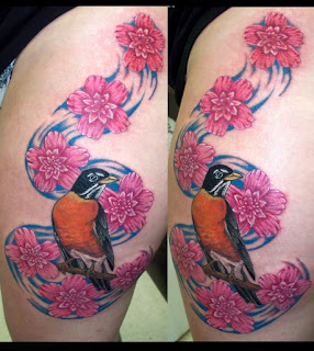 Tato Bunga Bunga dan Burung