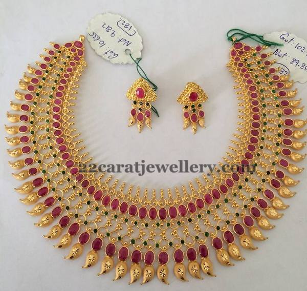 Rubies Gold Highlighting Choker