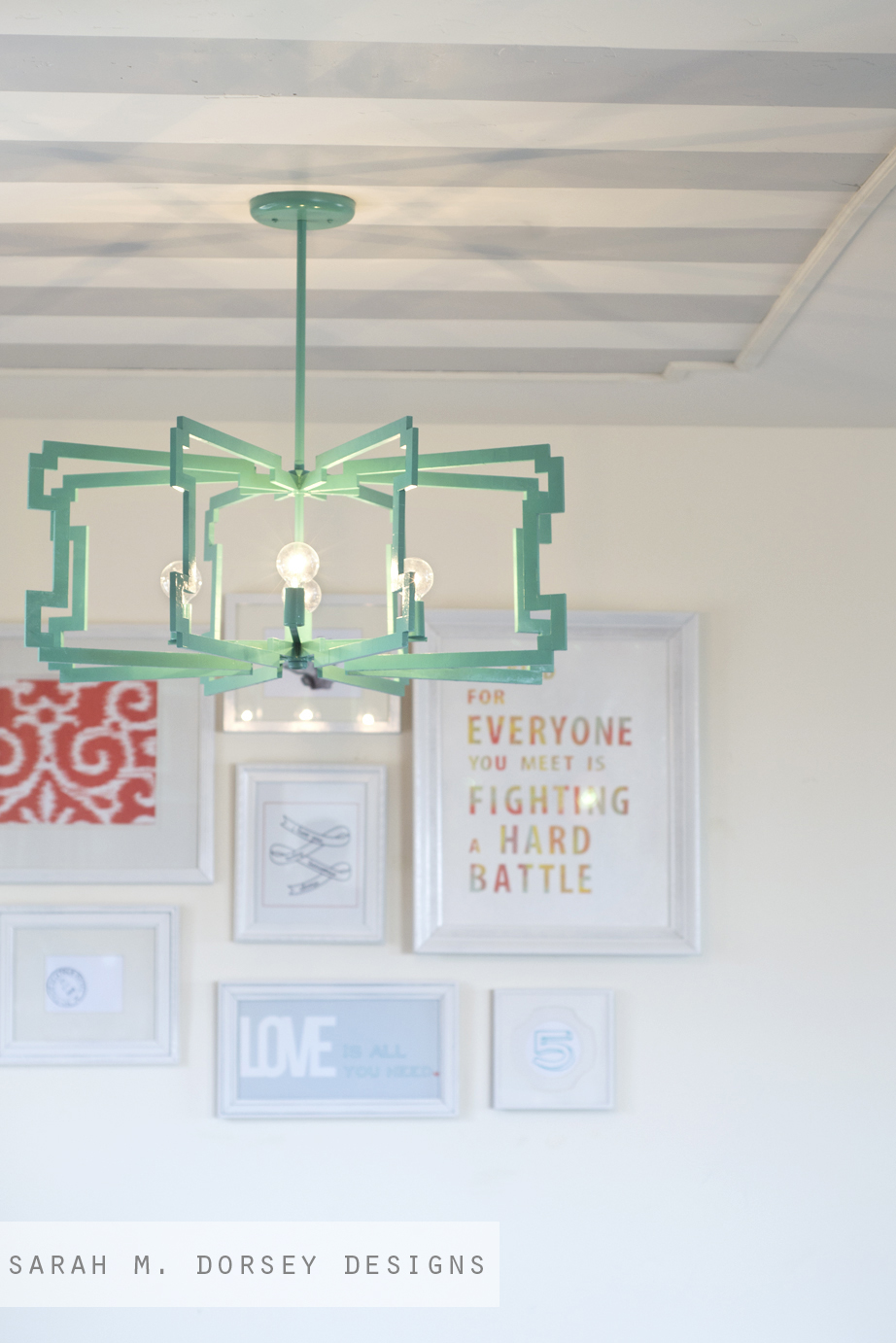 sarah m. dorsey designs: From Fluorescent Diffuser to Statement Pendant