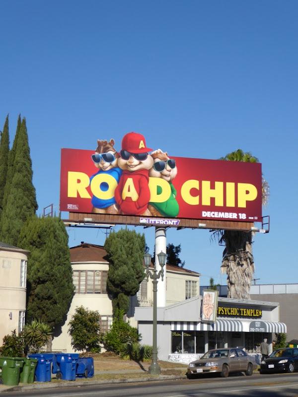 Alvin Chipmunks Road Chip movie billboard