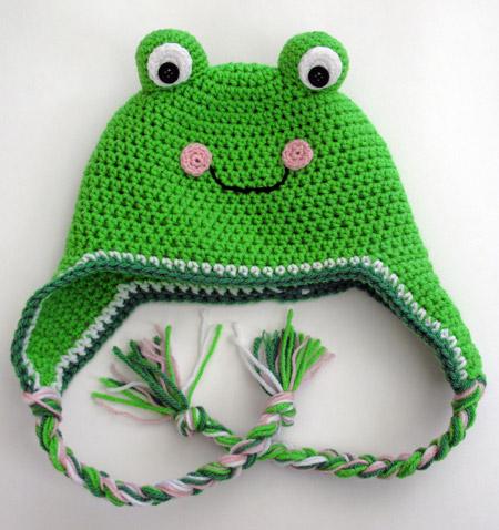 The Enchanted Ladybug: Free Crochet Frog Hat Pattern