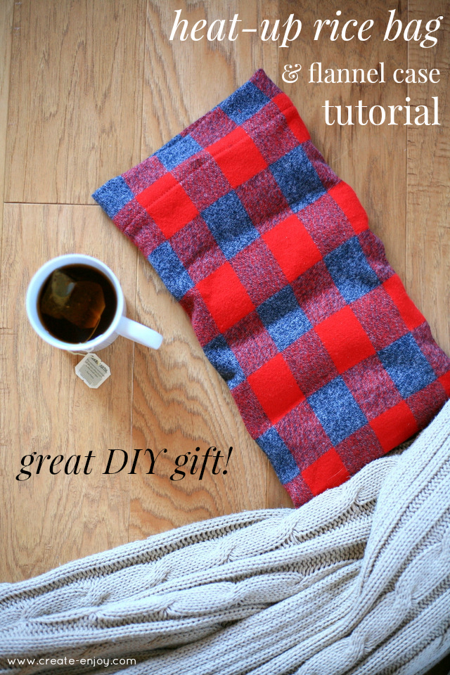 Easy Heat Up Rice Bag And Flannel Case Tutorial Great Diy Gift Create Enjoy