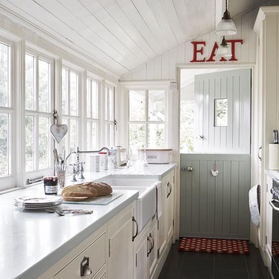 Dutch Door White Ironstone Cottage