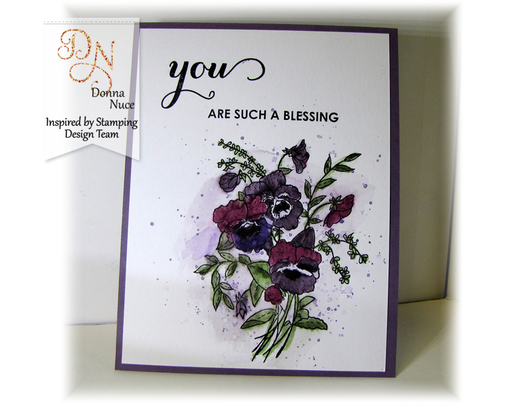 Inspired by Stamping, Crafty Colonel, Flower of the Month Pansy, Spring Bouquet, Thank You Card