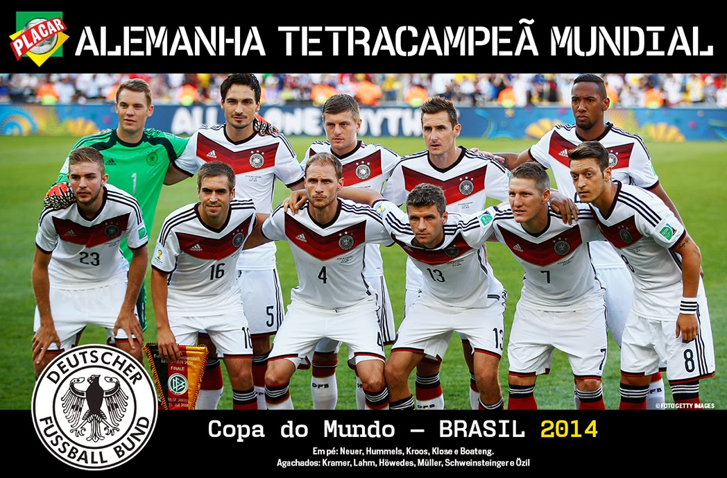 Alemanha derrota Argentina na prorrogação e é tetracampeã mundial após 24  anos(Pôster) 10f42127c7d49