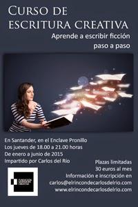 Cartel del curso de escritura creativa de Carlos del Río