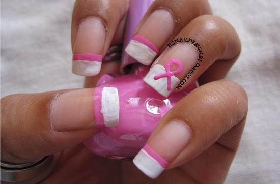 Awareness Ribbon Nail Art Pink Ribbon Nail Art
