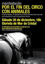Por el fin del circo con animales (manifestación en mAdrid)