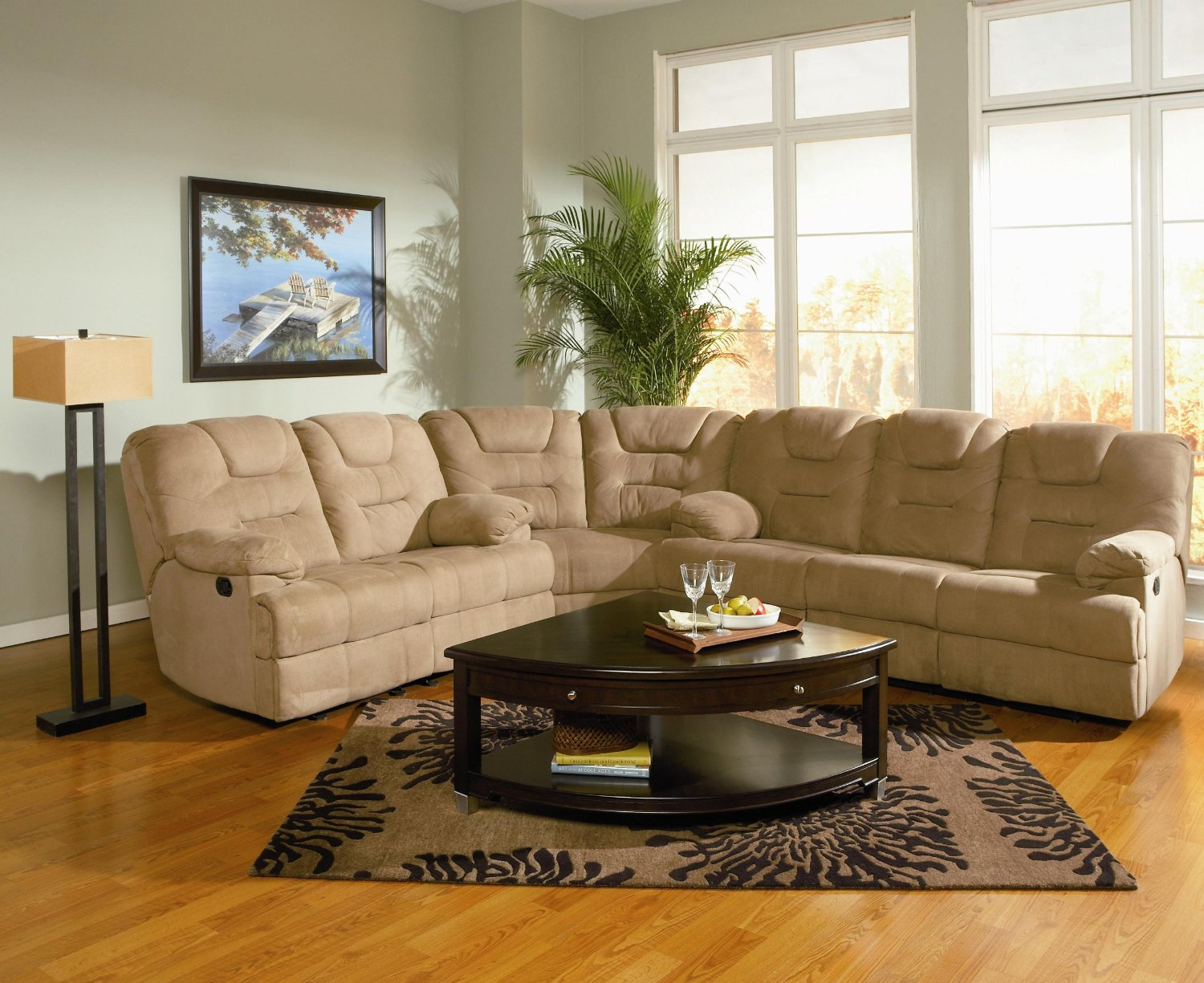 Shape+Sectional+with+Recliner Buy Small Sofa Online: Small L Shaped ...