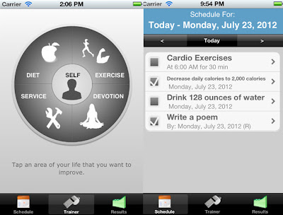 Personal Training Application for iPad and iPhone