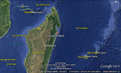 Google Earth Sainte-Marie Madagascar