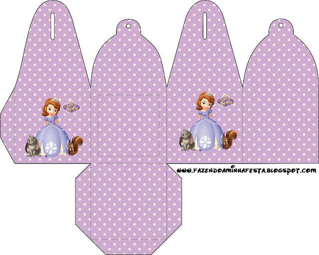 Princesa Sofía: cajas para imprimir gratis.