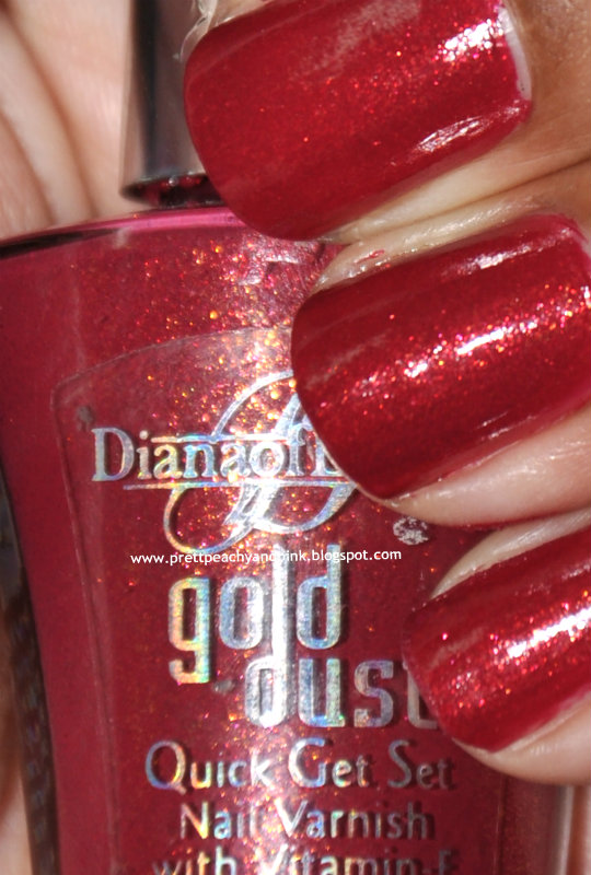 DIANA OF LONDON GOLD DUST QUICK GET SET NAIL VARNISH