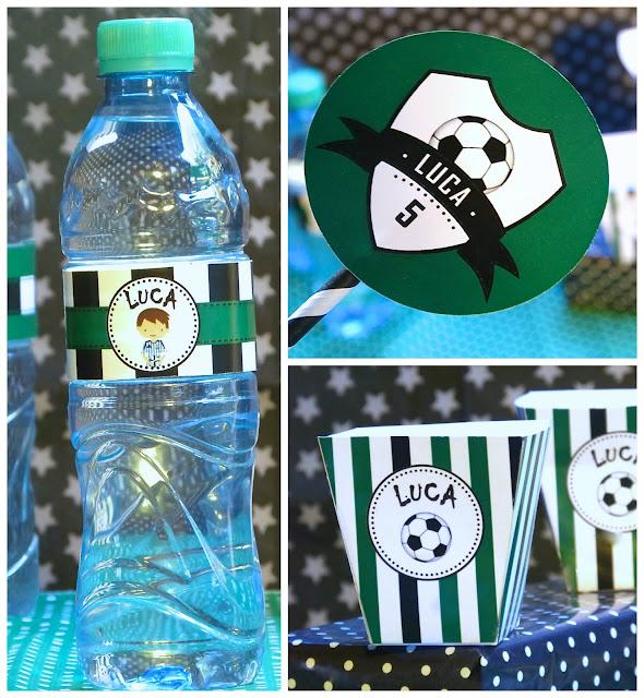 botellita agua personalizada futbol
