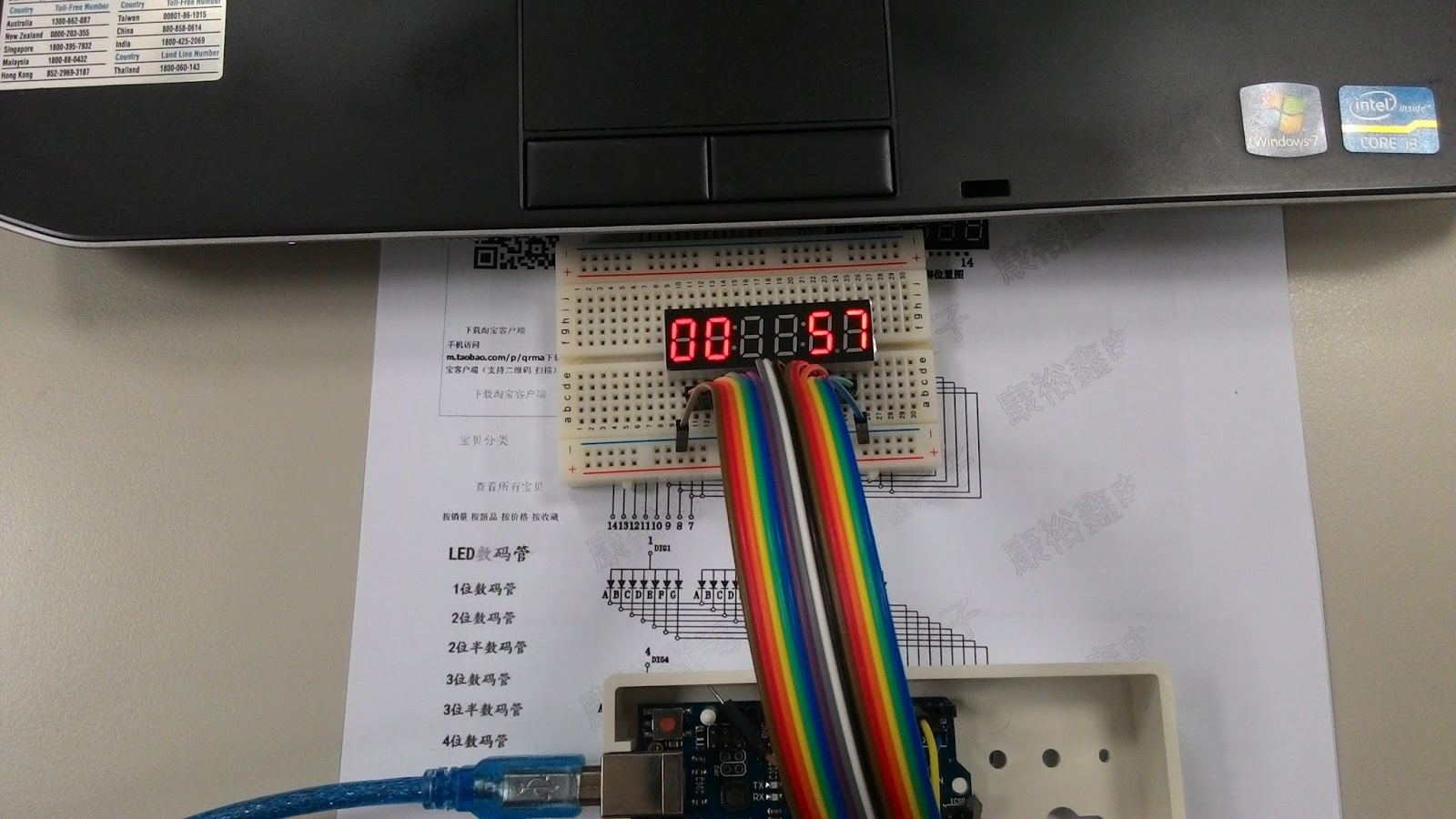 Cheaphousetek 6 Digit 7 Segment Led Counter Display Seven System Photos Parts Arduino Uno R3