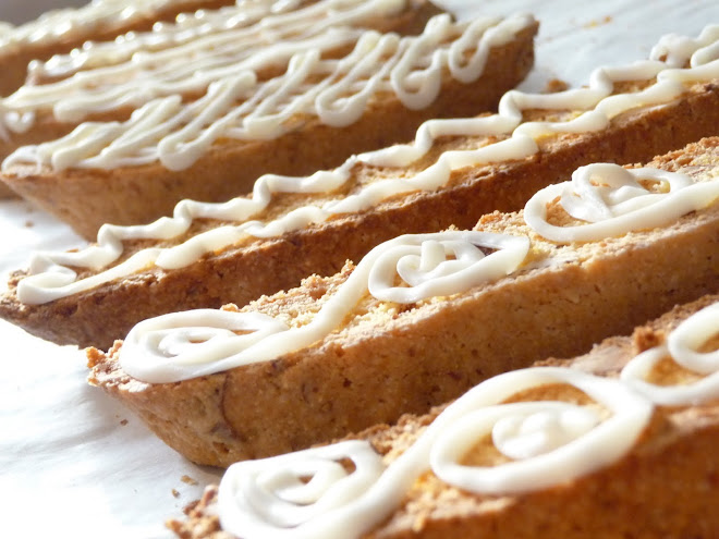 Lemon Almond Biscotti with White Chocolate