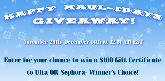 Happy HAUL-idays Giveaway