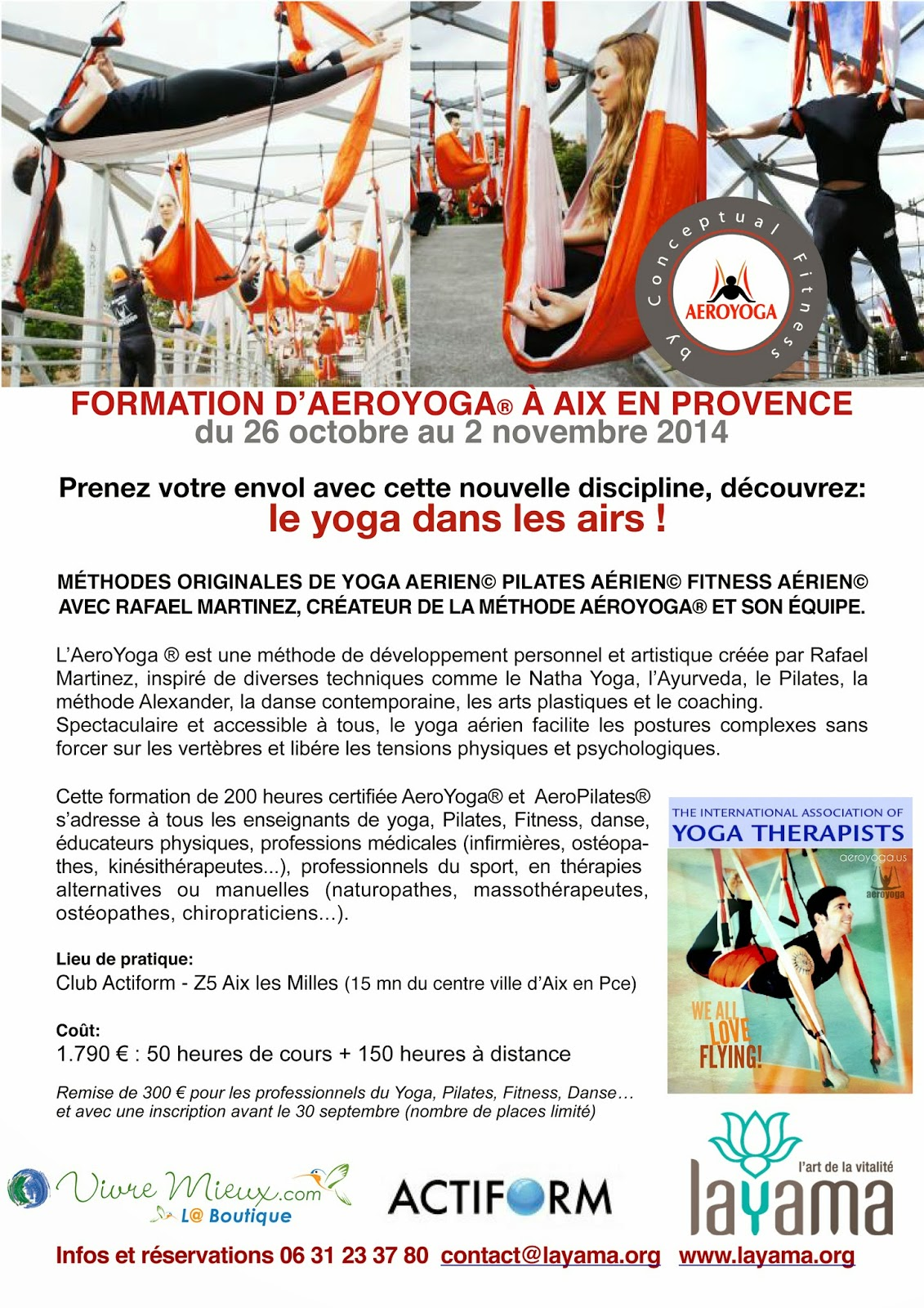STAGE FORMATION PROFESSEURS AEROYOGA