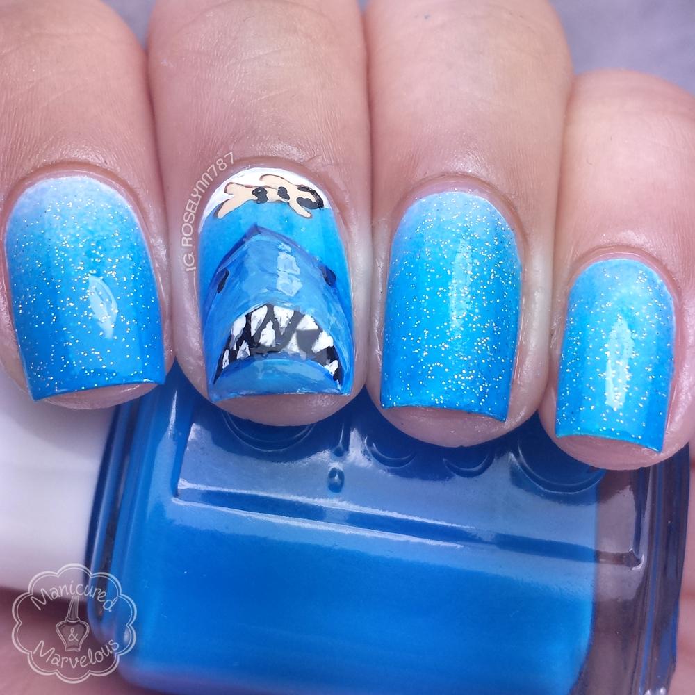 Nail Art: Shark Week feat. Jaws - Manicured & Marvelous