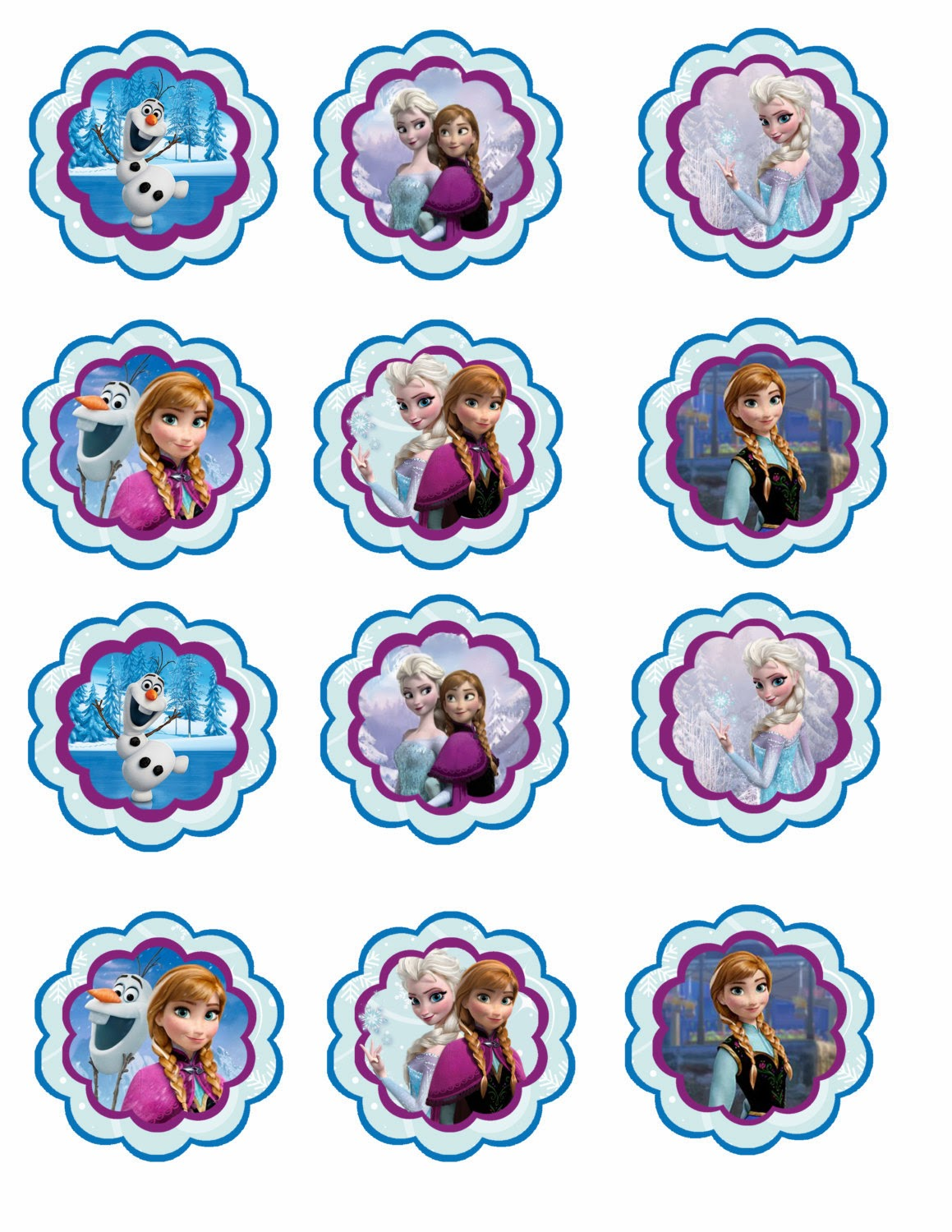 Gallery For gt Free Printable Frozen Cupcake Toppers