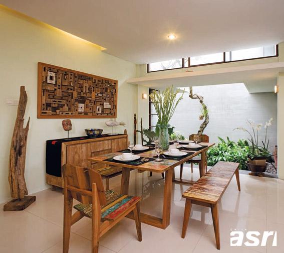 70 model meja makan minimalis kayu jati di ruang makan