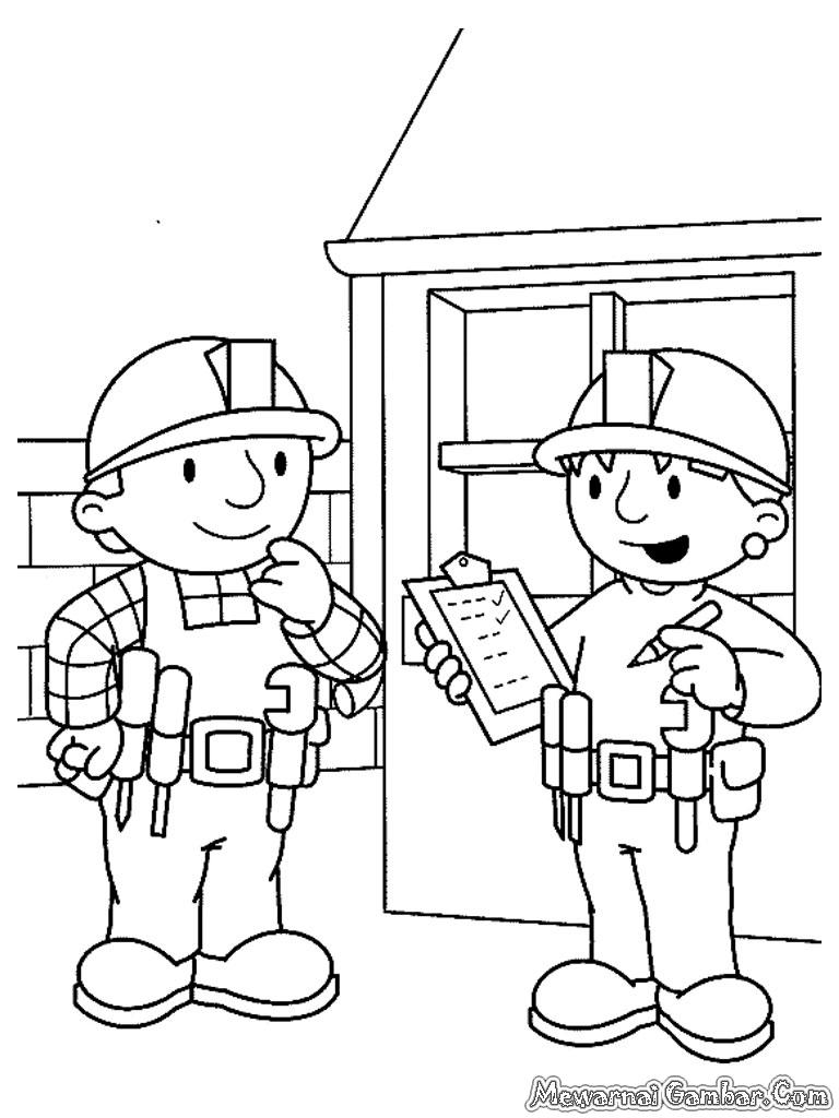 Mewarnai Gambar-Gambar Bob The Builder | Mewarnai Gambar